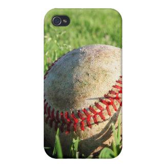 Béisbol en el caso del iPhone 4 de la hierba iPhone 4/4S Fundas