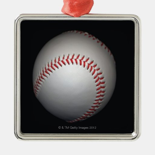 Béisbol en el fondo negro, primer adornos de navidad