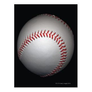 Béisbol en el fondo negro, primer postal