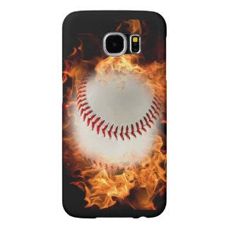 Béisbol en el fuego fundas samsung galaxy s6