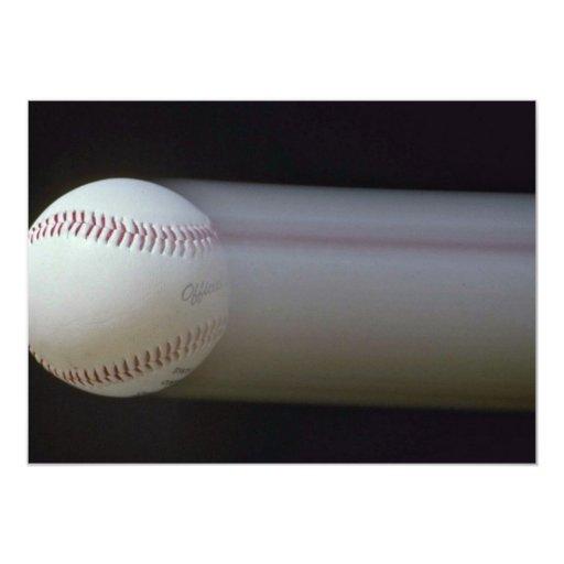 """Béisbol en el movimiento invitación 5"""" x 7"""""""