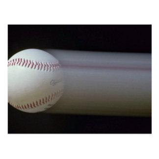 Béisbol en el movimiento postales