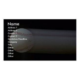 Béisbol en el movimiento plantillas de tarjetas de visita
