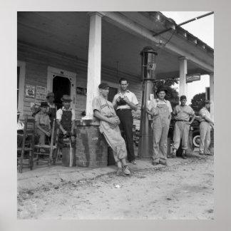 Béisbol en el NC, los años 30 del vintage Póster