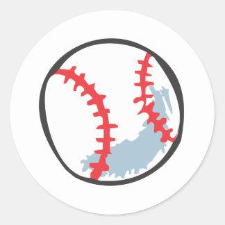 Béisbol en estilo a mano pegatina