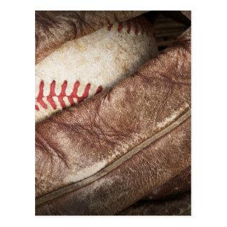 Béisbol en guante postal