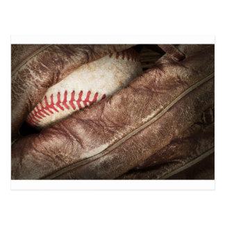 Béisbol en guante postales