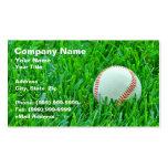 Béisbol en hierba plantilla de tarjeta de visita