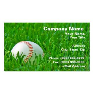Béisbol en hierba tarjetas de visita