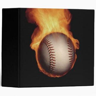 Béisbol en la carpeta de Avery del fuego