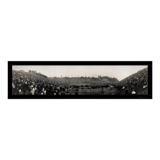 Béisbol en la foto 1915 de Cleveland Póster