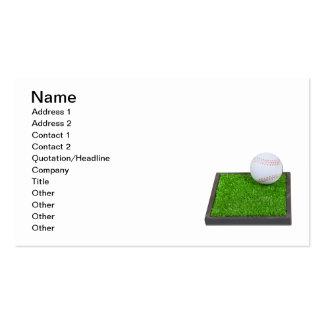 Béisbol en la hierba plantilla de tarjeta de negocio