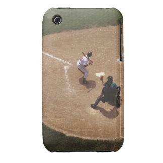 Béisbol en la meta iPhone 3 carcasas