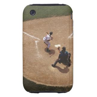 Béisbol en la meta iPhone 3 tough cárcasas