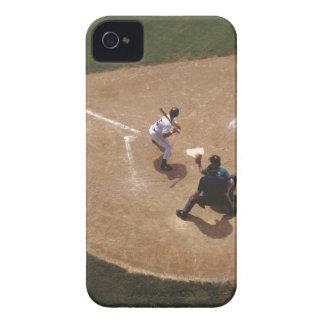 Béisbol en la meta iPhone 4 Case-Mate protector