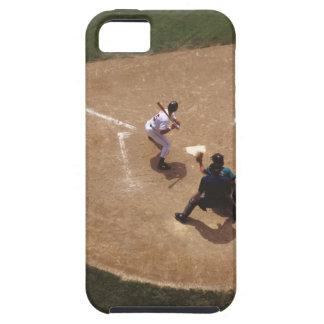 Béisbol en la meta iPhone 5 carcasas