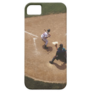 Béisbol en la meta iPhone 5 fundas