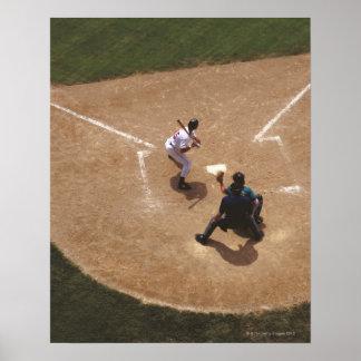 Béisbol en la meta póster