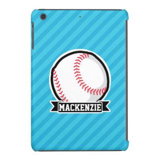 Béisbol en rayas azules de cielo funda de iPad mini