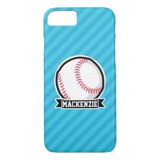Béisbol en rayas azules de cielo funda iPhone 7