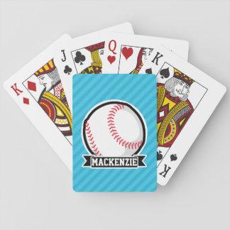 Béisbol en rayas azules de cielo baraja de póquer