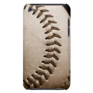 Béisbol en sepia barely there iPod carcasa