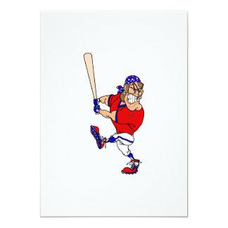 Béisbol enojado del pirata invitación 12,7 x 17,8 cm