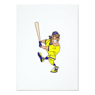 Béisbol enojado del talud del pirata invitación 12,7 x 17,8 cm