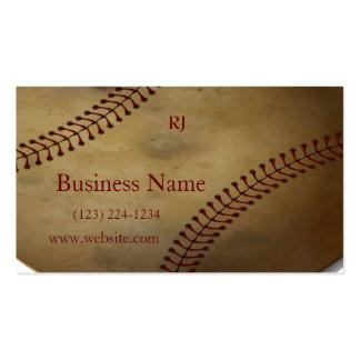 Béisbol envejecido con el monograma de encargo tarjetas de visita