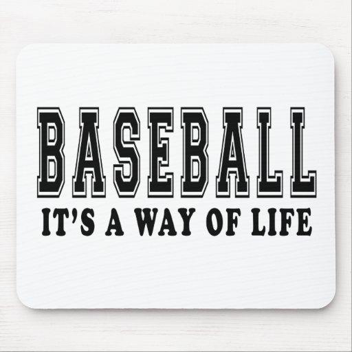 Béisbol es manera de vida tapete de ratón