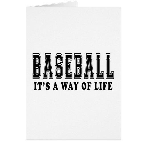 Béisbol es manera de vida tarjeton