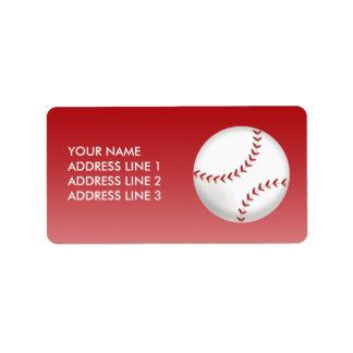 Béisbol Etiqueta De Dirección