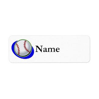 béisbol etiquetas de remite