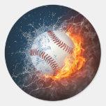 Béisbol extremo etiquetas redondas