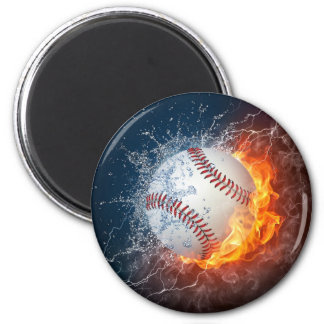 Béisbol extremo imán redondo 5 cm