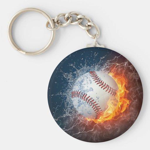 Béisbol extremo llavero redondo tipo pin