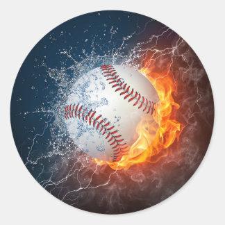 Béisbol extremo pegatina redonda