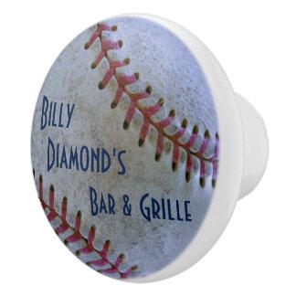 Béisbol Fan-tastic_Battered ball_personalized Pomo De Cerámica