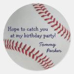 Béisbol Fan-tastic_Catch usted en mi fiesta de Pegatina Redonda