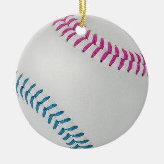 Béisbol Fan-tastic_Color Laces_fu_tl Adorno Navideño Redondo De Cerámica