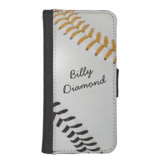 Béisbol Fan-tastic_Color Laces_go_bk_personalized Billetera Para iPhone 5