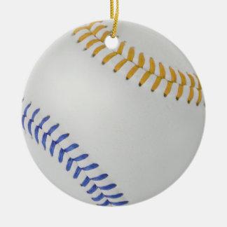 Béisbol Fan-tastic_Color Laces_go_bl Adorno Navideño Redondo De Cerámica