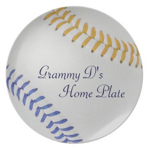 Béisbol Fan-tastic_Color Laces_go_bl_personalized Plato De Comida