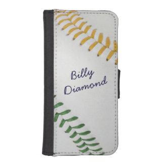 Béisbol Fan-tastic_Color Laces_go_gr_personalized Fundas Billetera De iPhone 5