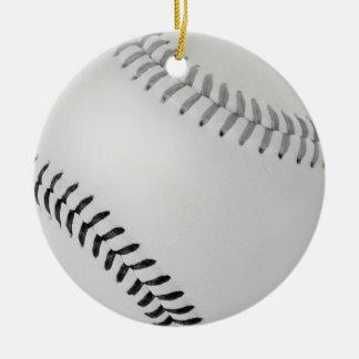 Béisbol Fan-tastic_Color Laces_gy_bk Adorno Navideño Redondo De Cerámica