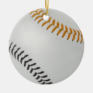 Béisbol Fan-tastic_Color Laces_og_bk Adorno Navideño Redondo De Cerámica