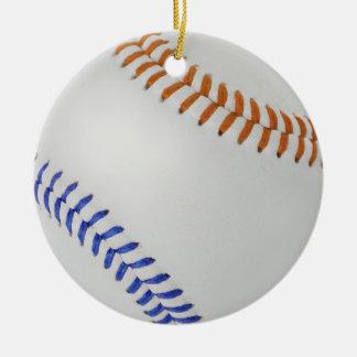 Béisbol Fan-tastic_Color Laces_og_bl Adorno Navideño Redondo De Cerámica