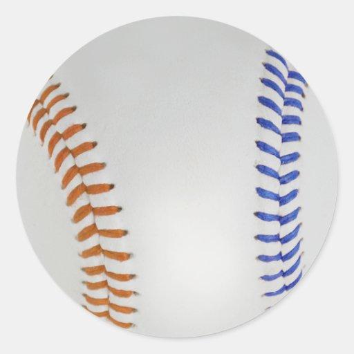 Béisbol Fan-tastic_Color Laces_og_bl Pegatinas Redondas