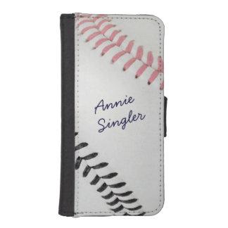 Béisbol Fan-tastic_Color Laces_pk_bk_personalized Billeteras Para Teléfono