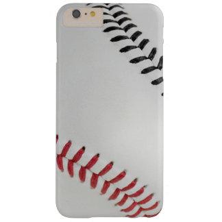 Béisbol Fan-tastic_Color Laces_Stitching_rd_bk Funda De iPhone 6 Plus Barely There